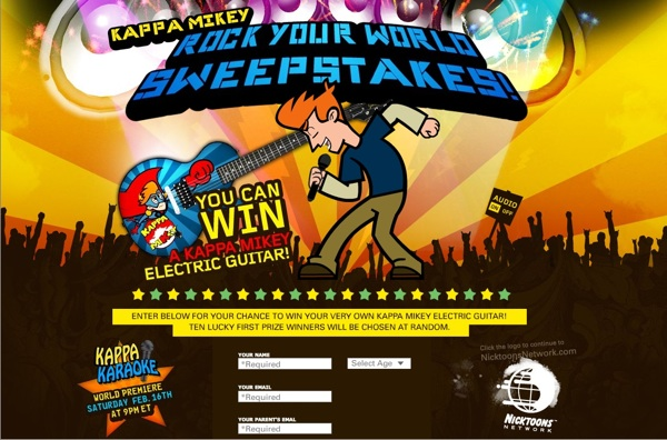 Kappa Mikey ROCK YOUR WORLD SWEEPSTAKES!